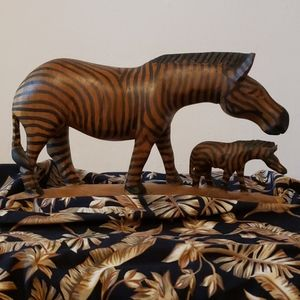 Zebra Mother and Baby Made in Kenya